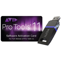 Avid Pro Tools 11 + 10 Software Activation Card iLok Version